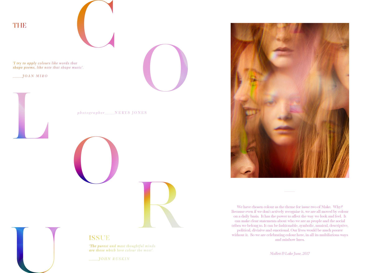 The Colour issue The Editors letter Make Magazine